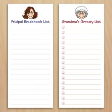 Caricature To-Do Pads with Magnets