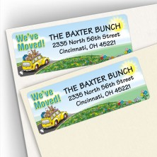 Moving Car Address Labels