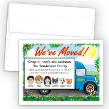 Moving Truck Moving Cards & Announcements