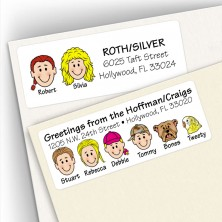 Multiple Last Name Address Label