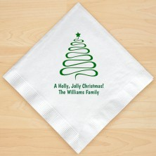 Christmas Tree Design 10 Personalized Christmas Lunch-Dinner Napkins