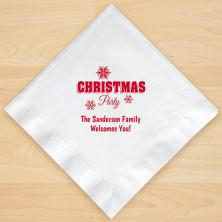 Christmas Napkin Design 11 Personalized Christmas Lunch-Dinner Napkins