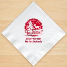Christmas Napkin Design 14 Personalized Christmas Lunch-Dinner Napkins