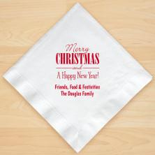 Christmas Napkin Design 20 Personalized Christmas Lunch-Dinner Napkins