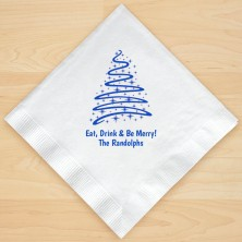 Christmas Tree Design 3 Personalized Christmas Lunch-Dinner Napkins