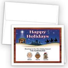 Nativity Happy Holiday Fold Note