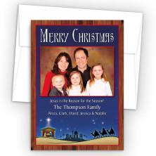 Nativity Photo Upload Holiday Card