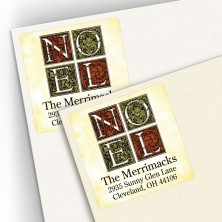 Noel Square Address Labels
