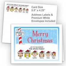 North Pole Merry Christmas Fold Note Set