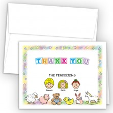 Nursery Foldover Family Thank You Card