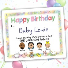 Nursery Happy Birthday Gift Label