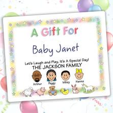 Nursery Family Gift Label