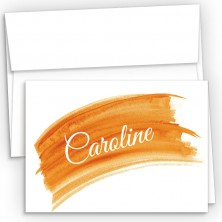 Orange Watercolor Fold Over Note Cards