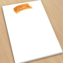 Orange Watercolor Large Note Pads