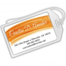 Orange Watercolor Luggage Tags
