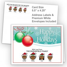Ornaments 2 Happy Holidays Fold Note Set
