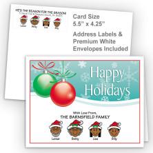 Ornaments 2 Happy Holidays Fold Note Set