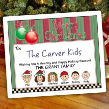 Ornaments 3 Christmas Gift Label