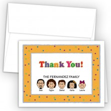 Party Foldover Family Thank You Card