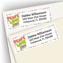 Peace Love Joy Address Labels