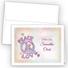 Peace Love Note Card
