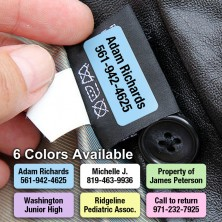 Peel and Stick Clothing Labels