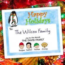 Penguin Parent Holiday Gift Label