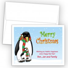 Penguins Merry Christmas Holiday Cards