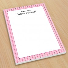 Pink Stripes Small Note Pads
