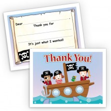 Pirate Ship Fill-In Thank You Cards