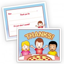 Pizza Fill-In Thank You Cards