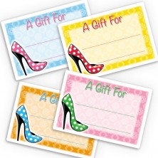 Polka Dot High Heels Gift Labels