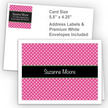 Hot Pink Polka Dot Thank You Card Package