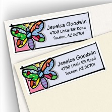 Pop Art Dragonfly Address Labels