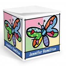 Pop Art Dragonfly Memo Cube
