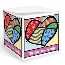 Pop Art Heart Memo Cube