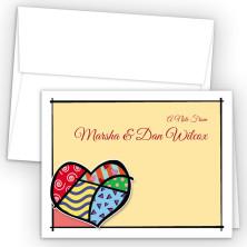 Pop Art Heart Note Card