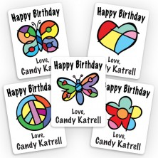 Pop Art Mini Gift Labels