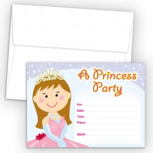 Princess Fill-In Birthday Party Invitations