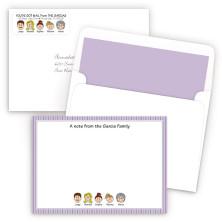 Purple Stripes Bordered Ensemble