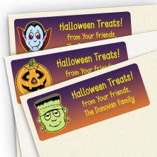 Halloween Treat Bag Stickers Assortment