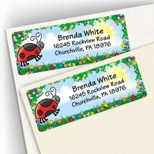 Lady Bug Address Labels