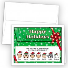 Red Bow Happy Holiday Fold Note