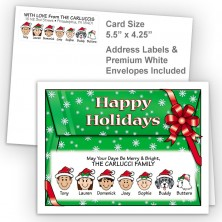 Red Bow Happy Holidays Fold Note Set