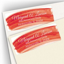 Red Watercolor Address Labels