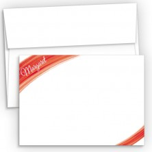 Red Watercolor Flat Correspondence Cards