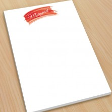 Red Watercolor Large Note Pads