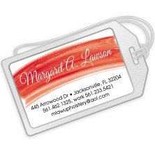 Red Watercolor Luggage Tags