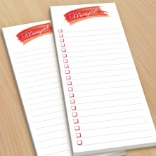 Red Watercolor To-Do Pads - with magnets