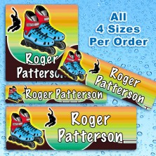 Rollerblades Waterproof Name Labels For Kids
